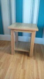 Three lamp tables oak effect