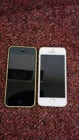 I phone 5s also I phone 5c immaculate condition