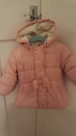 M&S Girls Winter Coat 9-12 months