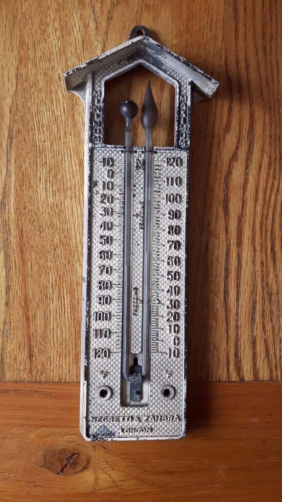 Negretti zambra minimum maximum wall thermometer - Minimum temperature for painting ...