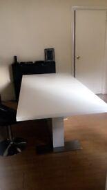 White Gloss Table