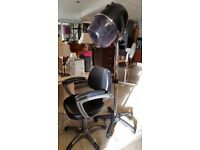 'Salon Basics' Miranda Hairdrying Hood with Matching Salon Chair in Great Condition