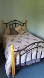 Metal & Wood Frame Double Bed