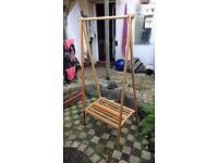 Futon company bamboo folding wardrobe clothes rail
