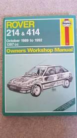 Rover 214 & 414 haynes manual
