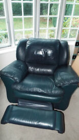 Single Real Leather Rocking & Reclining Armchair - Very Comfortable - Excellent Condition