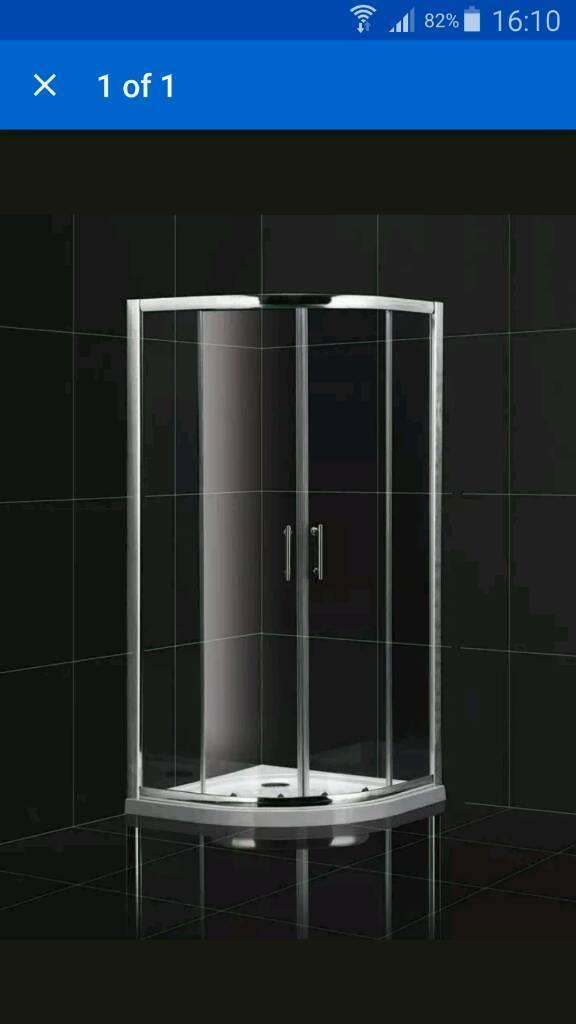 Quadrant shower enlosure