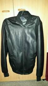Zara XS mens leather jacket