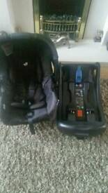 Joie car seat with isofix base