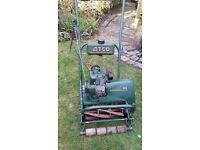 "Used ATCO 14"" lawn clyinder mower. Serviced last season but used only twice. In good condition"