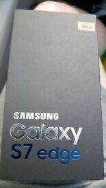 Samsung galaxy s7 edge in platinum gold BNIB
