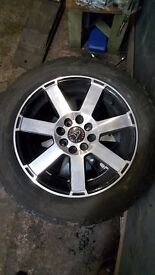 Wolfrace alloy wheels with 185/60/15 yokohama winter tyres *nearly new* 4x100 4x108 ford peugeot etc