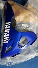 YAMAHA R6 LOWER FAIRING BELLY PAN RIGHT SIDE BLUE 03 04 05 5SL BRAND NEW KIT OEM ORIGINAL