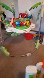 rainforest jumperoo no light or sound