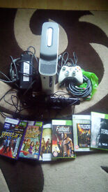 xbox 360 (60gb) + kinect + controller + 6 games + all original leads