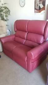2 seater leatherette chair