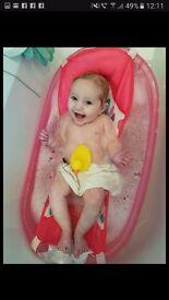 Babygirl bath