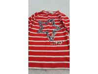 Girls red stripey top.. Next age 4 years