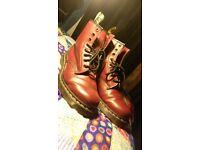 Dr Marten Cherry Boots Size 8