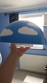 Blue cloud lampshade children