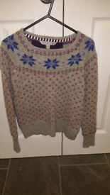 Fat Face Nordic/Scandi style Christmas jumper. Age 10