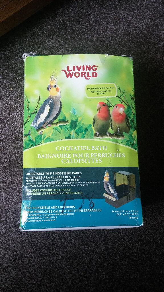 New Living World Cockatiel Bath