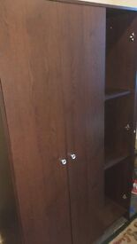 Wardrobe. Chest of draws and bedside table