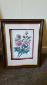 £4 each Rob Pohl 3D flowers signed and framed.