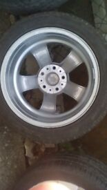 Set of 4 GENUINE BMW Alloy wheels and tyres
