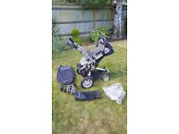 Quinny Buzz pushchair with carrycot