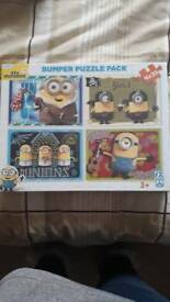 Brand New sealed Minions Puzzles