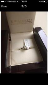 Moissanite 18 carat white gold 1 carat Soilitare ring