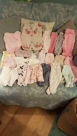 Girls baby clothes 0-3mths