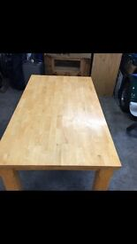 ****price drop **** pine table 6 chairs
