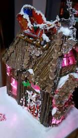 Xmas santa house Larger than blue one advertised