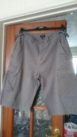 Men's longer-length shorts. Waist 36inches. Burtons.
