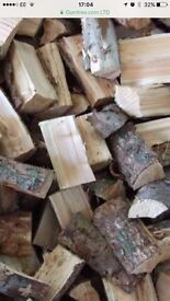 Bags wood for wood burners in door fires 4 bags £10