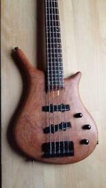Vester Clipper 5 String Bass Guitar (Warwick Thumb Shape)