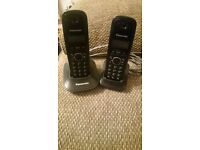 Twin Cordless Panasonic Phones