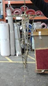 LOT luminaire chandelier avec cristaux- 5 unités