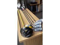 NIKE WOODS/MIZUNO IRONS HALF SET OF CLUBS
