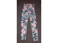 Ladies multi patterned trousers