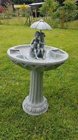 Beautiful bird bath