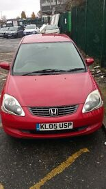 2005 HONDA CIVIC 1.6 PETROL AUTOMATIC WITH LONG MOT