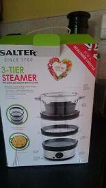 Three tier steamer, boxed