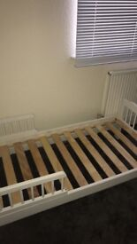 Kids toddler bed and white