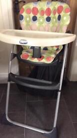 Chicco high chair -excellent condition