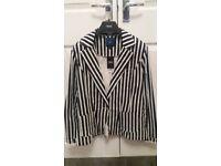 Ladies BNWT navy & white stripe jacket from Next