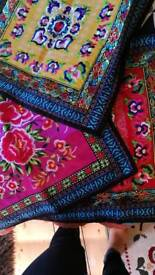 Three chinese embroidered cushion covers
