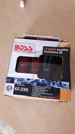 Boos audio amplifier kit instalation